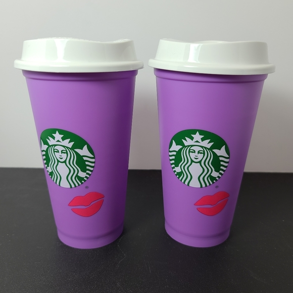 X2 Starbucks 2021 Valentines Color Changing Cup